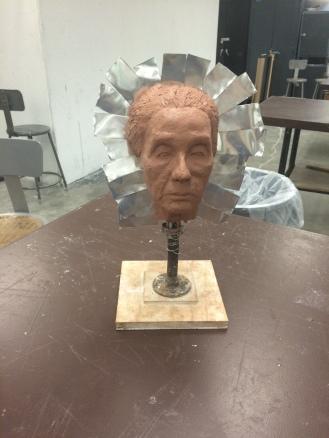 Figure modeling portrait casting process